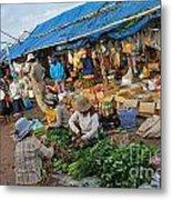 Street Market In Siem Reap Metal Print by Sami Sarkis