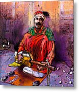 Street Musician In Marrakesh 01 Metal Print