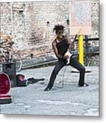Street Musician Milan Italy Metal Print