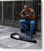 Street Musician - Sao Paulo Metal Print