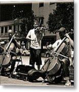Street Musicians 2 Metal Print