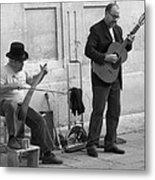 Street Musicians In Avignon Metal Print