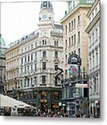 Street Of Vienna Metal Print