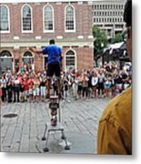 Street Performer Faneuil Hall Market Boston Metal Print
