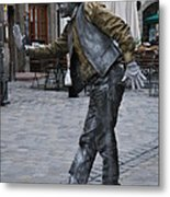 Street Performer In Munich Metal Print