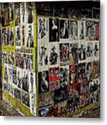 Street Photographer's Shed Icons Us/mexico Border Nogales Sonora  Mexico 2003 Metal Print