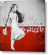 Street Princess Metal Print