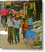 Street Scene In Tachilek-burma Metal Print