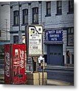Street Scene With Coke Machine No. 2110 Metal Print