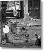Street Vendor Metal Print by Chevy Fleet