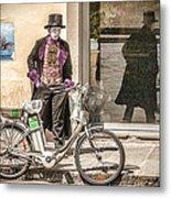 Street Vendor Metal Print