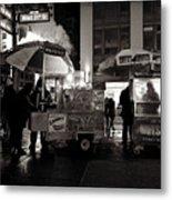 Street Vendor Row Metal Print