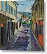 Street View From Provence Metal Print