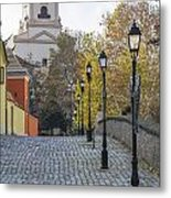Street View In Gyor Metal Print