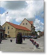 Street View. Silute Lithuania May 2011 Metal Print