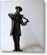 Street Violinist Metal Print