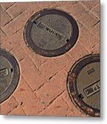 Street Water Covers Metal Print