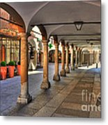Street With Arches And Columns Metal Print