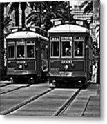 Streetcars New Orleans Metal Print