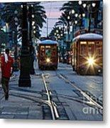Streetcars On Canal Street Metal Print