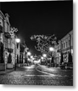 Streets Before Christmas Metal Print