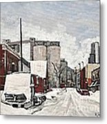 Streets Of Montreal Pointe St. Charles Metal Print