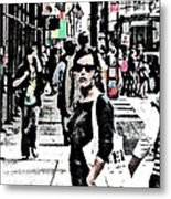 Streets Of Nyc 19 Metal Print by Mario Perez