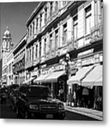 Streets Of Puebla 9 Metal Print