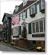 Streetscene Newport  -  Rhode Island Metal Print