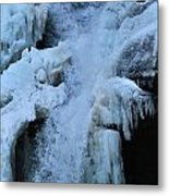 Strength Of Water And Ice Metal Print