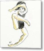 Stretching Dancer Metal Print