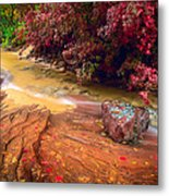 Striated Creek Metal Print