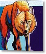 Strictly Business - Arctic Wolf Metal Print
