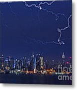 Strikes And Bolts In Nyc Metal Print