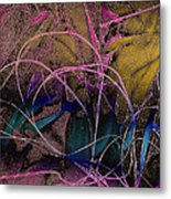 String And Fabric Metal Print