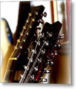 Strings Galore - Guitar Metal Print