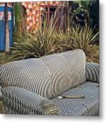 Striped Couch II Metal Print