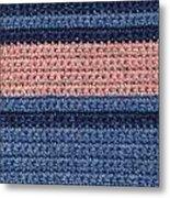 Striped Crochet Cloth Metal Print