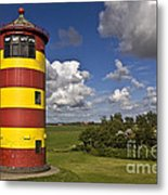 Striped Lighthouse Metal Print