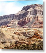 Striped Mountains Metal Print