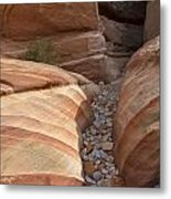 Striped Sandstone Metal Print