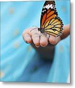 Striped Tiger Butterfly Metal Print by Tim Gainey