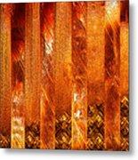 Stripes Forming Metal Print