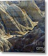 Stripped Mounds Metal Print