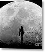 Stripper On The Moon Metal Print
