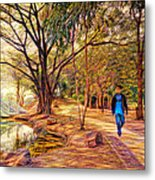 Stroll In The Park. Metal Print