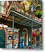 Strolling In The Quarter Metal Print