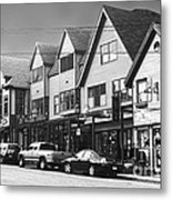 Strolling The Streets Of Bar Harbor Metal Print