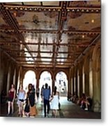 Strolling Through The Arches Metal Print