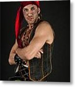Strong Male Pirate 1 Metal Print